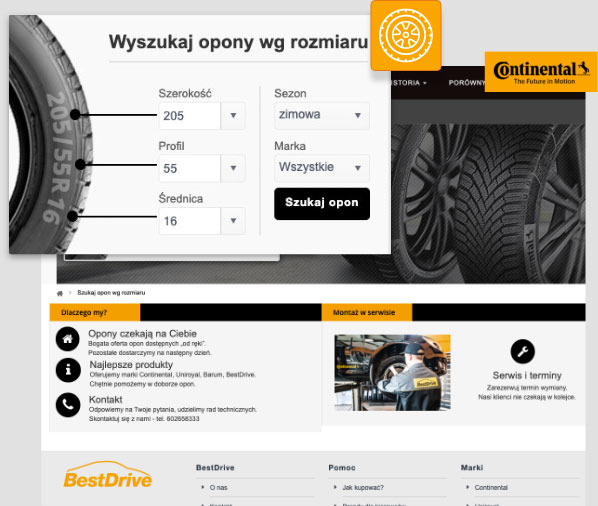 Integra eCommerce WebShop Tyre